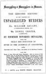 The title page of Smuggling and Smugglers in Sussex
