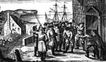 Ye Smugglers breaking open ye King's Custom House at Poole