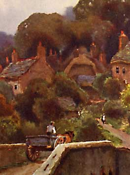 Watercolour painting of Boldre by Ernest W Haslehust