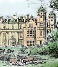 Engraving of Cobham Hall