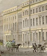 Engraving of the London Customs House