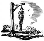 wood-cut of a gibbet