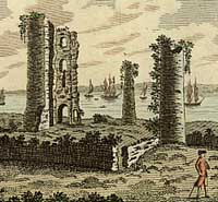 Engraving of Hadleigh Castle in Essex