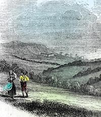 Engraving of Fairlight Down and Hastings