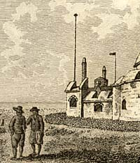 Engraving of Hurst Castle