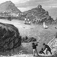 Engraving of Ilfracombe harbour