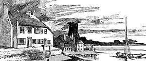Engraving of Langstone harbour by Charles G Harper