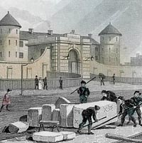 Engraving of Millbank Prison