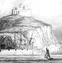 Engraving of St Michael's Mount