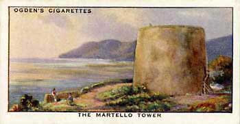 Ogden's cigarette card of Martello tower