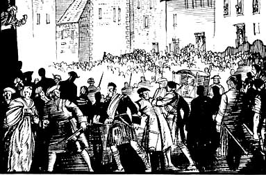 The Porteus riots. Illustration by Jack MatthewEdinburgh's Tolbooth.Click picture to enlarge