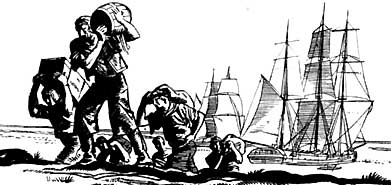 A smuggling run. Illustration by Jack Matthew