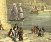 Engraving of Whitehaven in the 18th century