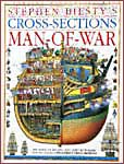 The cover of Dorling Kindersley's Cross Section Man-of-War