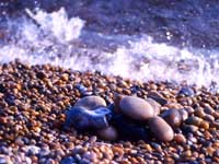 Photograph of pebbles on Chesil Beach