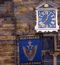 Photograph of the Star and Eagle pub sign at Goudhurst