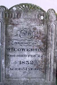 Photograph of the Steyning tomb of the stonemason killed in an attack on smugglers in 1832.