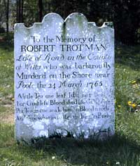Photograph of Robert Trotman's grave